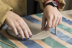 Working ceramics Stock Photos