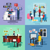 Working Character Composition Set Stock Photos