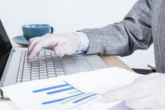 Working with Charts Royalty Free Stock Photo