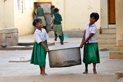 Working children in India Stock Photos