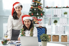 Working on Christmas day Royalty Free Stock Images