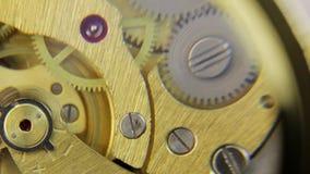 Working clock mechanism stock video footage
