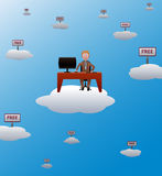 Working in the cloud Stock Images