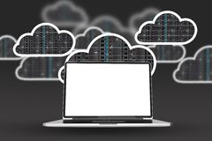 Working in the Cloud stock illustration