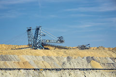 Working coal mine Royalty Free Stock Photography