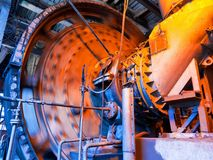 Working coal mixer Royalty Free Stock Images