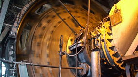 Working coal mixer at the metallurgical plant stock footage