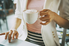 Working and coffee Royalty Free Stock Photography