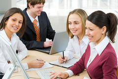 Working colleagues Royalty Free Stock Image