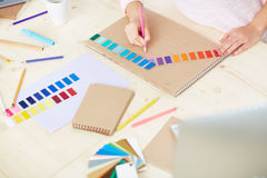 Working with colors Stock Photos