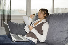 Working with comfort Stock Photo