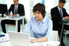 Working with computer Royalty Free Stock Photo