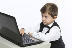 Working on computer problem Stock Photography