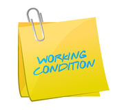 Working conditions post illustration design Royalty Free Stock Images