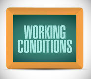 Working conditions sign message illustration Stock Images