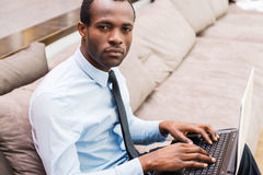 Working with confidence. Royalty Free Stock Photo