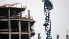 Working construction crane stock video