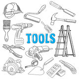 Working construction tools Royalty Free Stock Photography