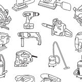 Working construction tools Stock Image