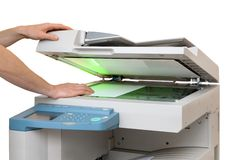 Working with a copier Stock Images