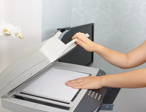 Working copier Stock Image