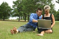 Working Couple Stock Image