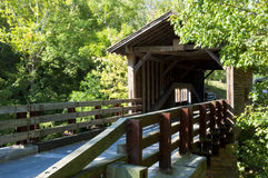 Working covered bridge in summer. Stock Photography