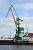 Working crane. In port Saint Petersburg, Russia Royalty Free Stock Photo
