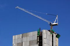 Working crane Royalty Free Stock Image