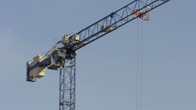 Working crane stock video footage