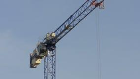 Working crane stock video footage