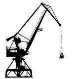 Working crane in sea port for cargo industry Stock Photos