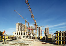 Free Working Cranes, Buildings Under Construction Stock Photos - 20004263
