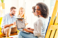 Working in a creative environment. Stock Images