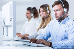 Working in customer service Stock Photography