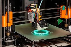 Working 3d printer Stock Images