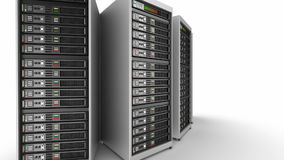 Working data servers stock footage