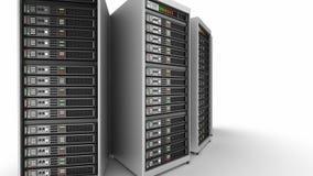 Working data servers. 3D render
