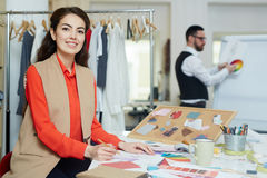 Working day of couturier Stock Photo