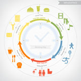 Working day infographics Royalty Free Stock Photo