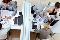 Working day in office Royalty Free Stock Image
