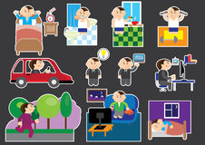 Working day sticers Royalty Free Stock Image