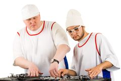 Working deejays Stock Images