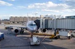 Working at Denver Airport stock photos