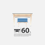 Working desk and chair in flat design for office room interior. Minimal icon for furniture sale poster. Stock Photos