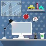 Working desk in New York Stock Image