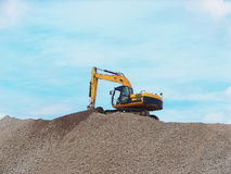 Working digger Royalty Free Stock Photography