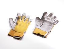 Working dirty gloves Royalty Free Stock Photography