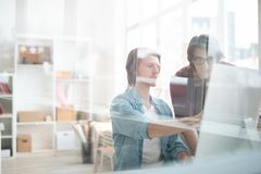 Working discussion royalty free stock image