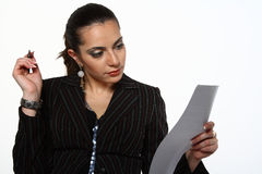 Working with document royalty free stock image